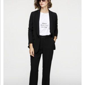 Loft black open front crepe lightweight blazer